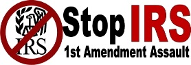 Stop IRS 1st Amendment Assault
